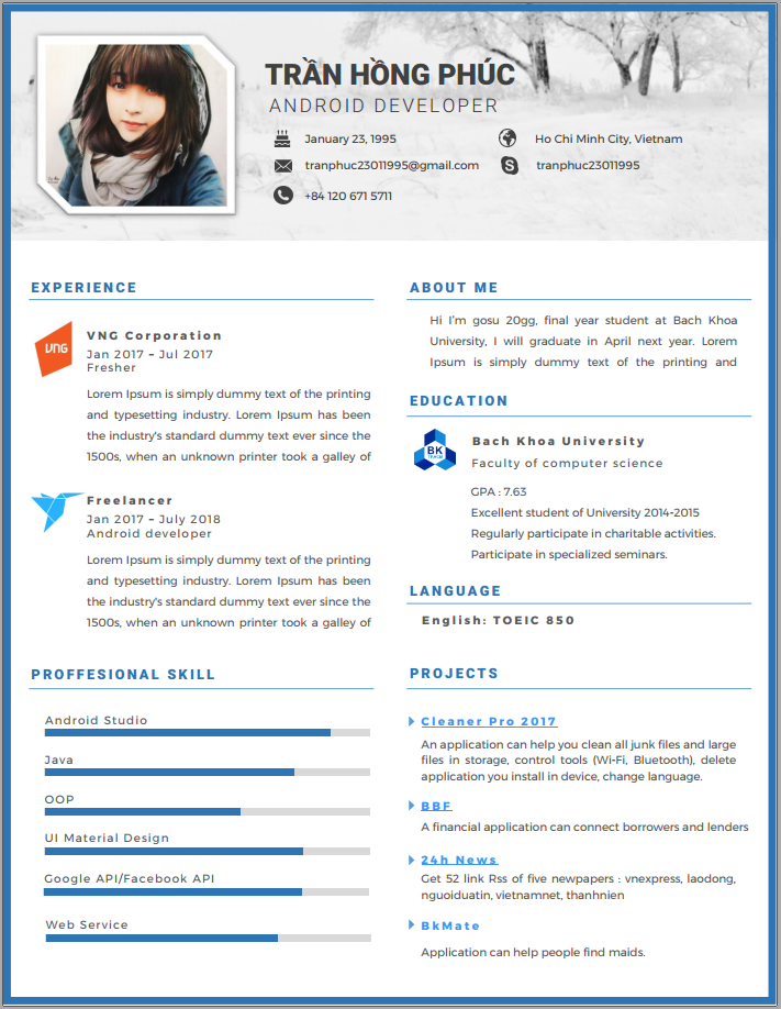 free microsoft word resume template with professional look