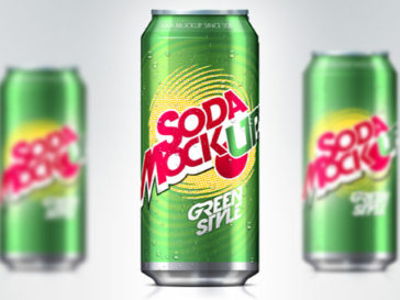 Psd Soda Can Mock-Up Template