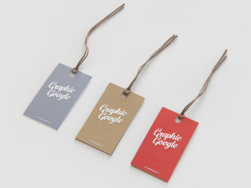 Label Hang Tag Logo Mock-up