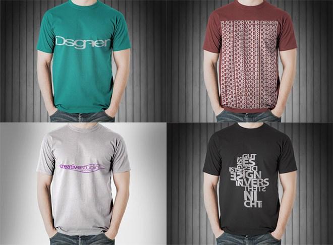 T-Shirt Mockup with No Color Limitation