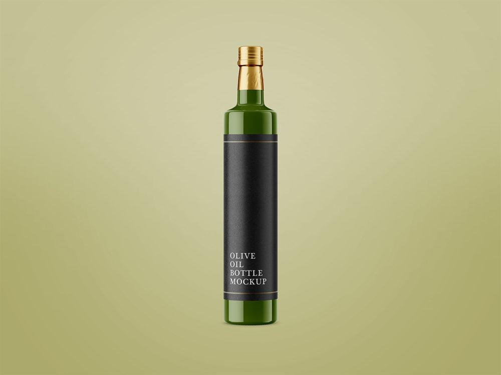 Download Free Glossy Olive Oil Bottle Mockup - Free Download Free Mockups