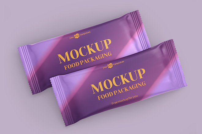 Free Chocolate Bar Packaging Mockup PSD