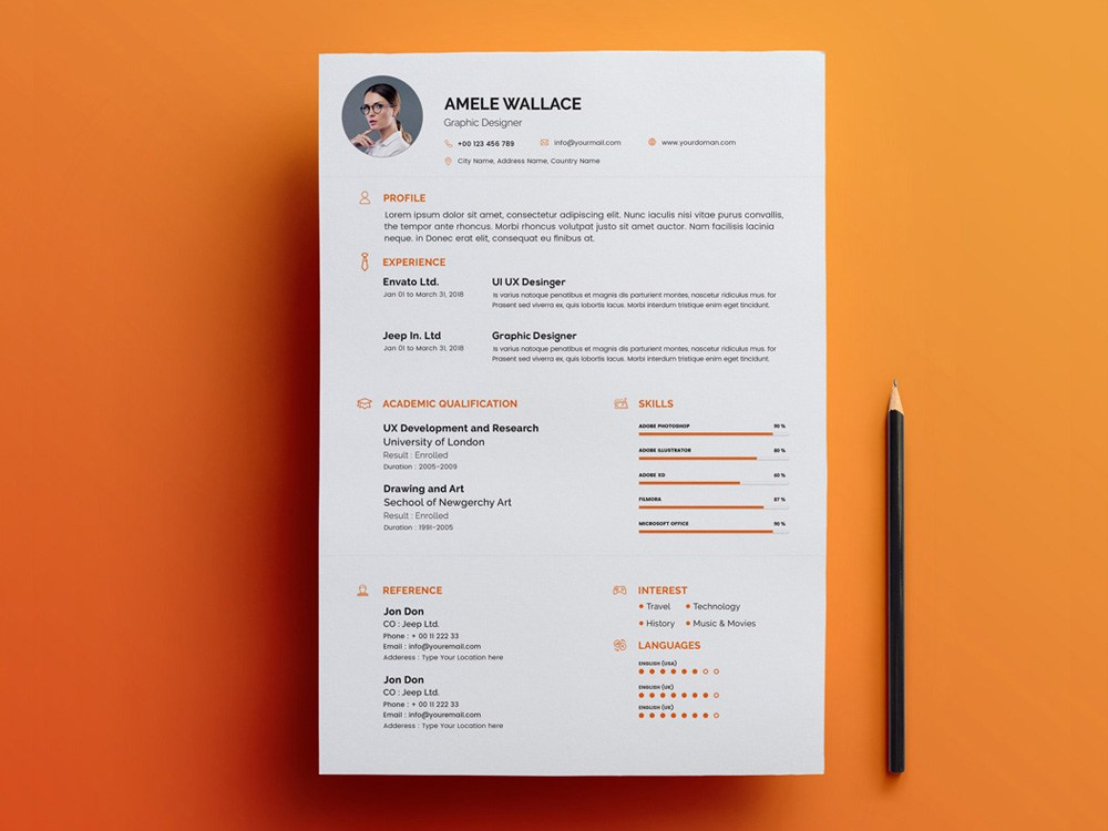 Free Smart Resume Template with Matching Cover Letter ...