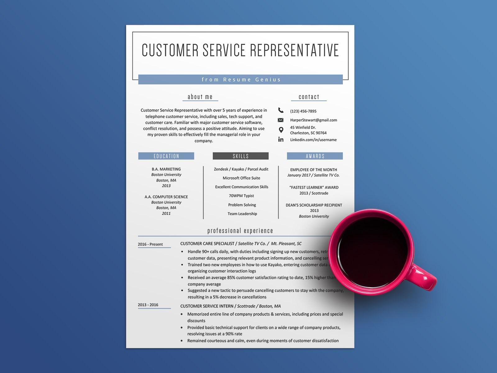 Free Customer Service Resume Template