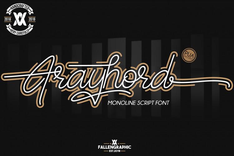 Frayhord Free Signature Font