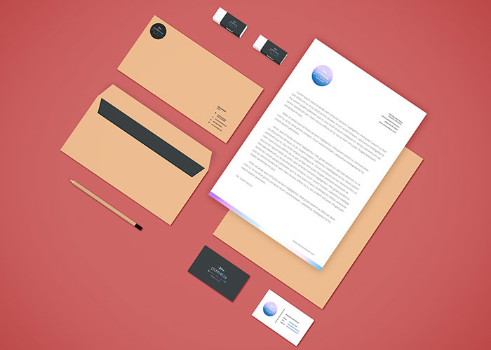 Retro Branding Stationery Mockup