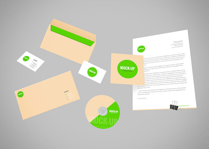Flying Branding Stationery Mockup