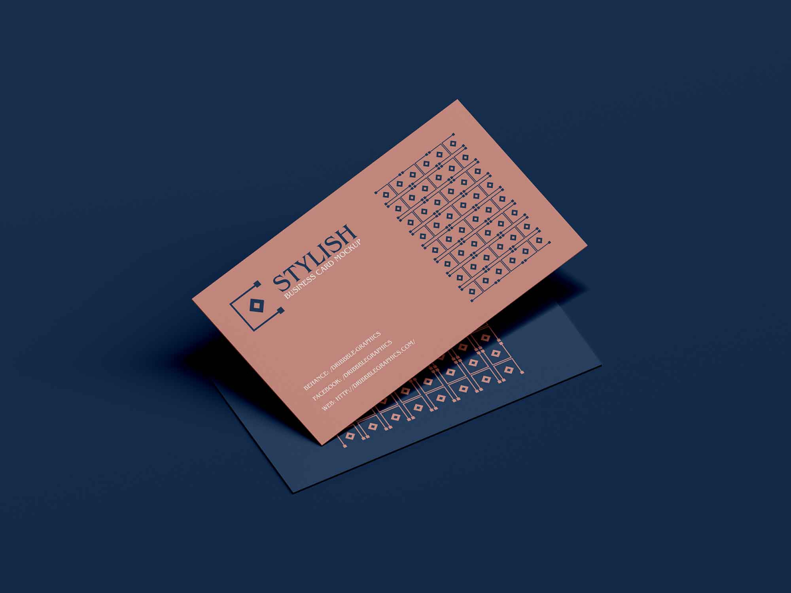 Free Stylish Business Card Mockup (PSD)