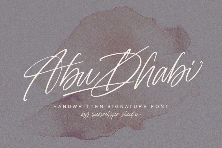 Abu Dhabi Font – Free Handwritten Signature Typeface