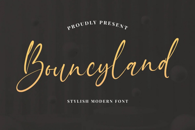 Bouncyland Font – Free Natural Calligraphy Typeface