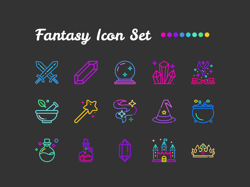 Fantasy Icon Set