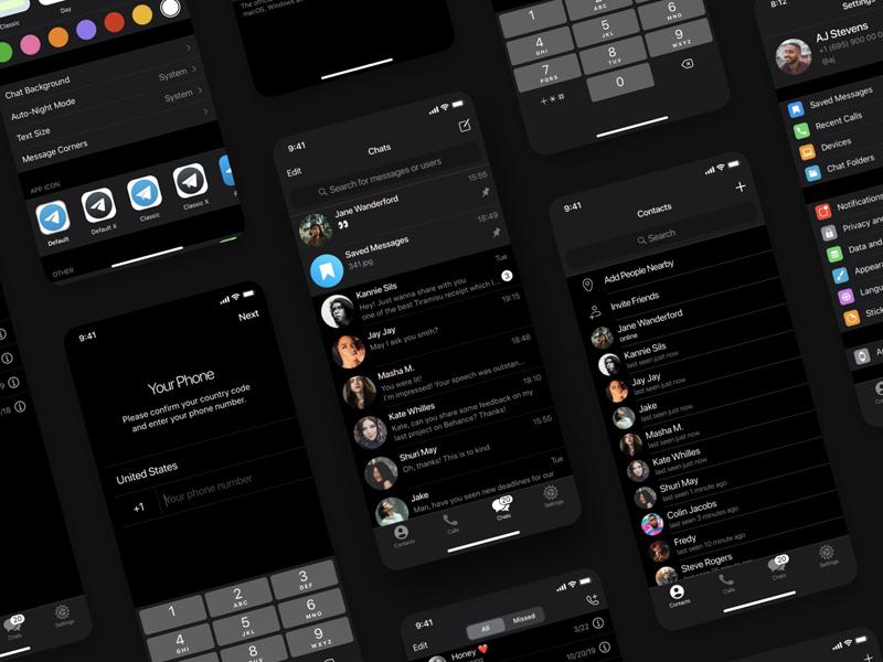 Telegram iOS UI Kit for Figma