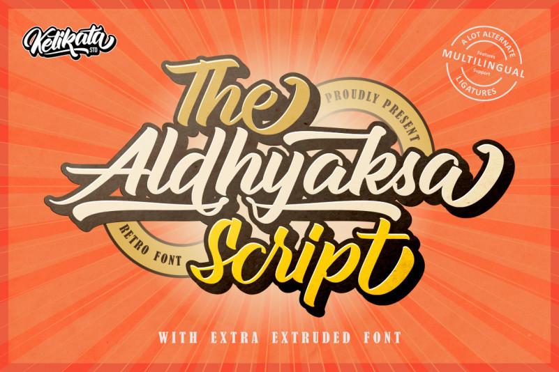 Aldhyaksa Font – Free Retro Bold Script Typeface