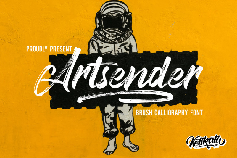 Artsender Font – Free Brush Calligraphy Typeface