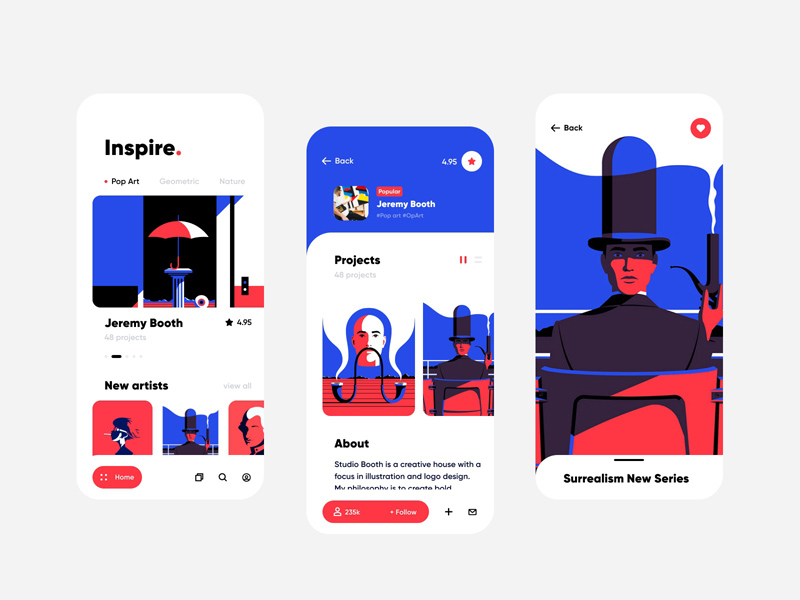 Art Inspiration App UI – Figma