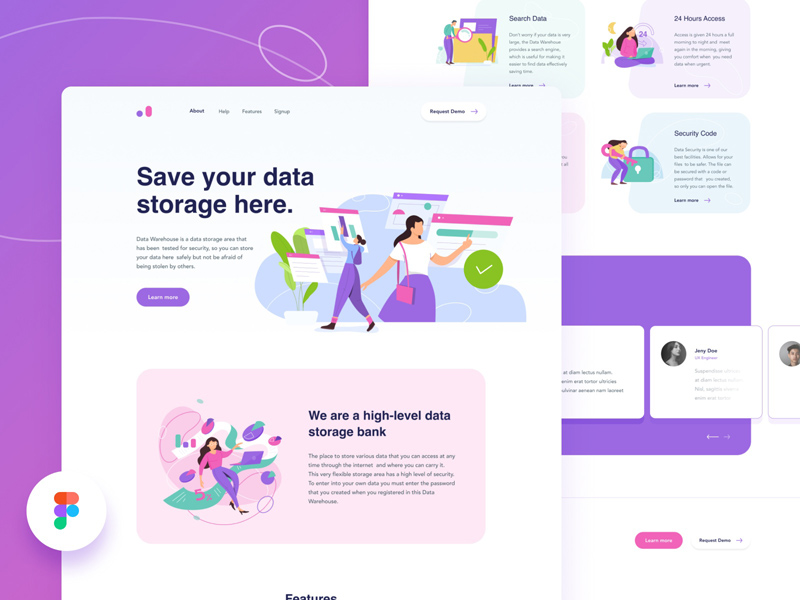 Cloud Storage Website Template – Figma