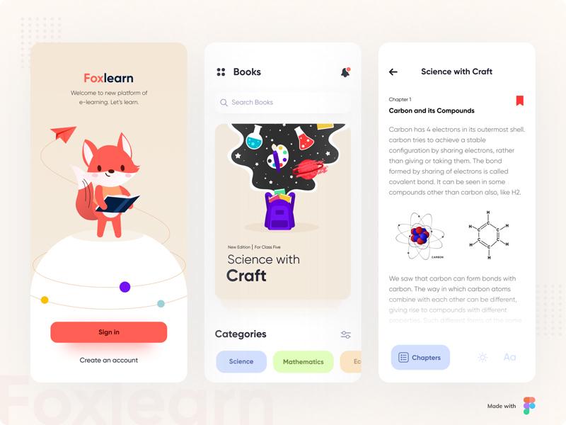 E-Learning Platform App UI – Figma