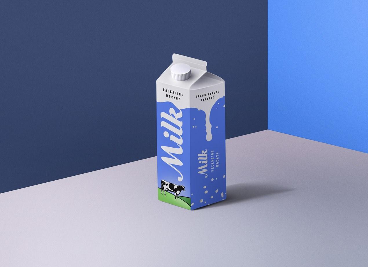 Paper Board Milk Packaging Box
