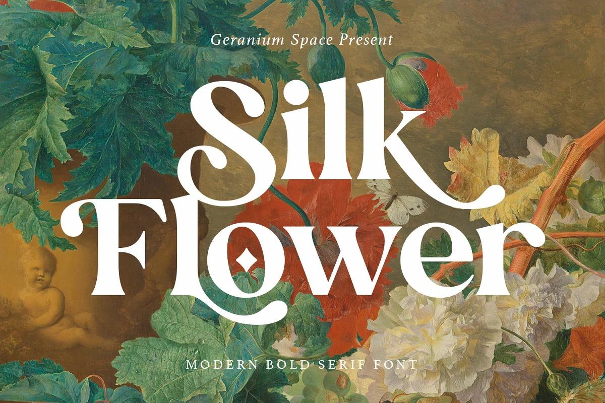 Silk Flower Font